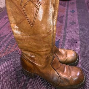 Frye vintage leather boots.